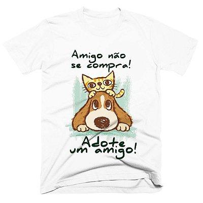 Camiseta pet - Adote um amigo