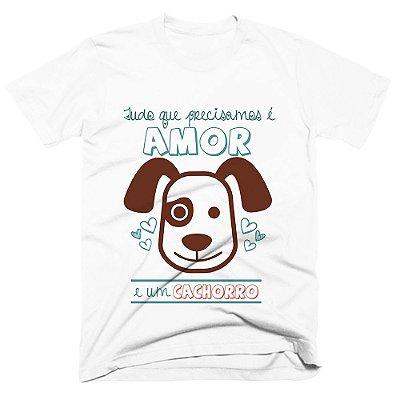 Camiseta pet - Amor e Cachorro