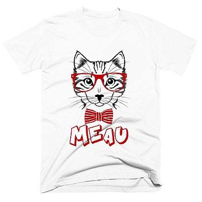 Camiseta pet - Gato Nerd