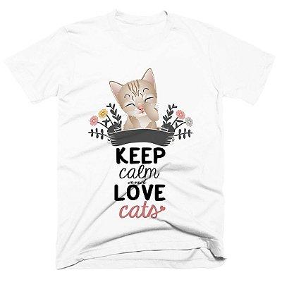 Camiseta pet - Keep Calm Cats