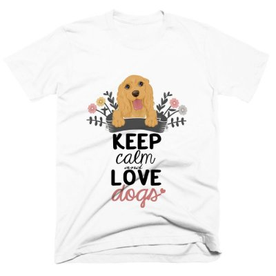 Camiseta pet - Keep Calm Dogs