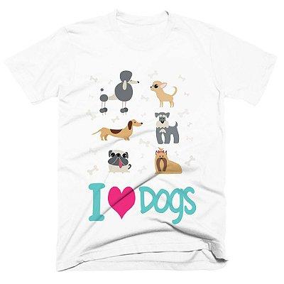 Camiseta pet - Love dogs