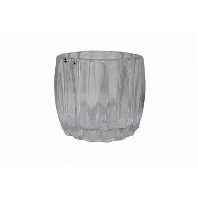 Castiçal de Vidro Transparente