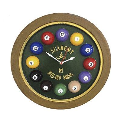 Relógio de Parede Billiard