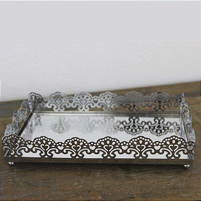 Bandeja Metal Espelhada 27,5 Cm