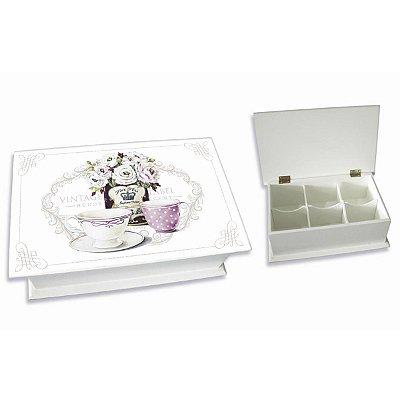Caixa de Chá Rosas