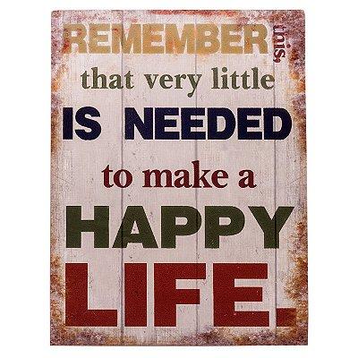 Placa Happy Life