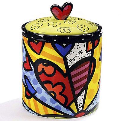 Pote p/ Biscoitos Coração - Romero Britto