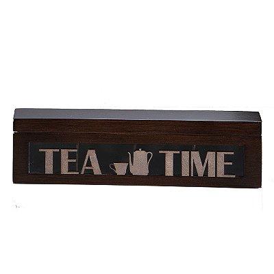 Caixa de Chá Léia Marrom