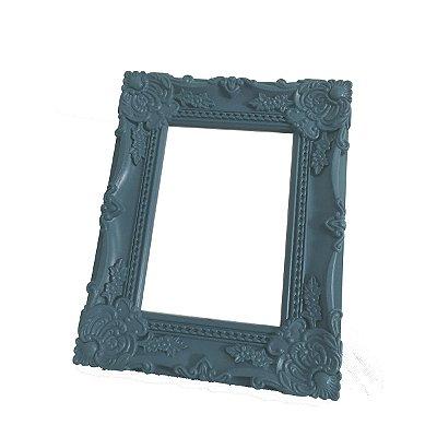 Porta Retrato Rococó Azul Turquesa 10x15 Cm