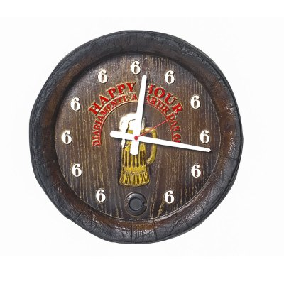 Relógio Barril Happy Hour