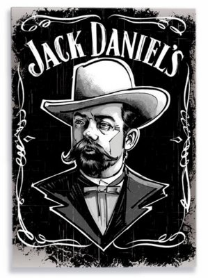 Placa Jack Daniels Man P