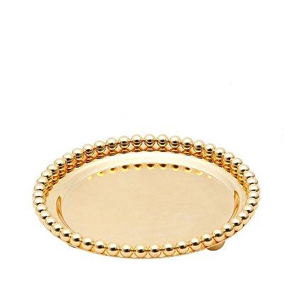 Bandeja redonda dourado Balls 13,3cm