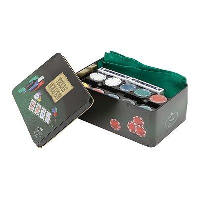 Jogo Poker 200 fichas com caixa de metal