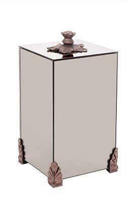 Lixeira Espelhada Bronze