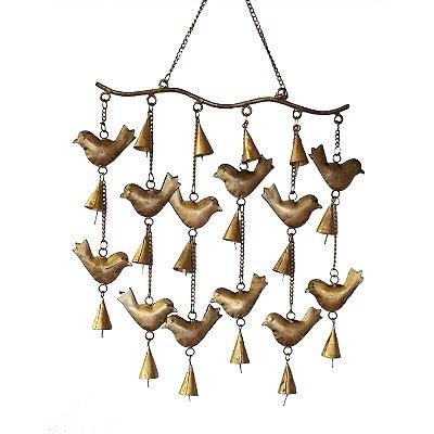 Gancho Pássaros Punjab Dourado