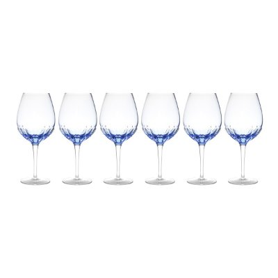 Jogo 6 taças p/ água azul 685ml