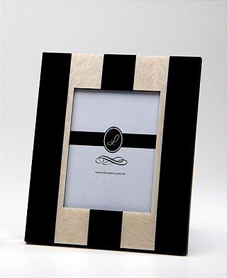 Porta retrato Stripes Preto 10x15