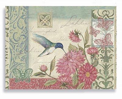 Placa Floral Beija Flor