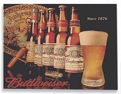 Placa Budweiser Garrafas