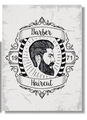 Placa Barber e Haircut