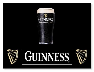 Placa Guinness Black