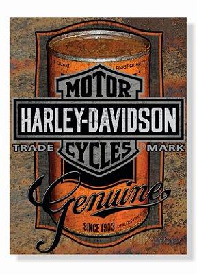 Placa Harley Lata