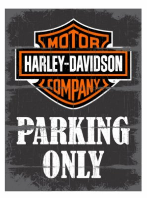 Placa Harley Parking Only
