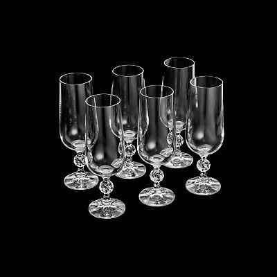 Conjunto 6 taças p/ champagne Klaudie 180ml