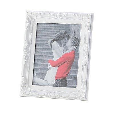 Porta retrato Vintage branco 13x18cm