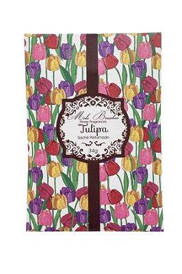 Sachê perfumado Tulipa 34g - 5 unidades