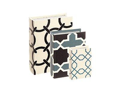 Kit Caixa Livro - 3 peças