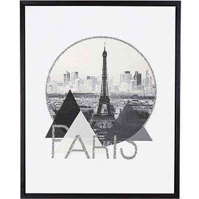Quadro Paris Cinza