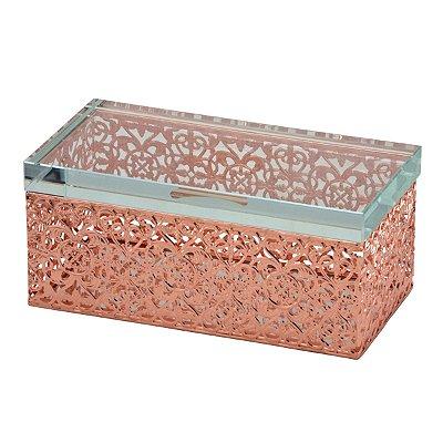Caixa Decorativa Rosé 20cm