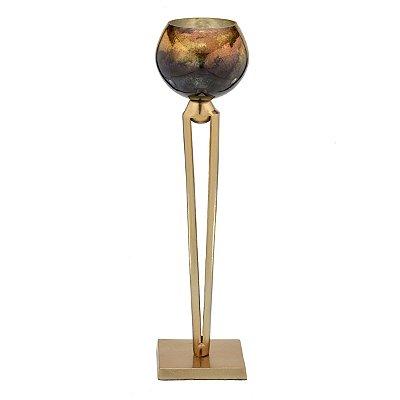 Candelabro Metal Dourado 43,5cm