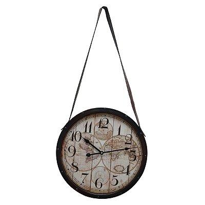 Relógio de Parede Mapa