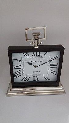 Relógio Quadrado c/ Base