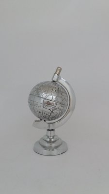 Globo Prata Decorativo 13cm