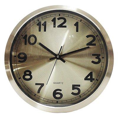 Relógio de Parede Metálico Cobre