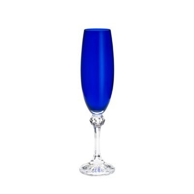 Conjunto 6 Taças p/ Champagne Elisa Cobalto 220ml
