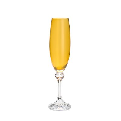 Conjunto 6 Taças p/ Champagne Elisa Topázio 220ml