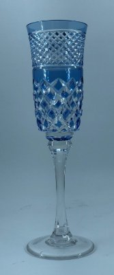 Taça p/ Champagne Azul
