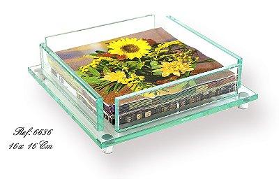 Porta Guardanapo Cristal 16cm