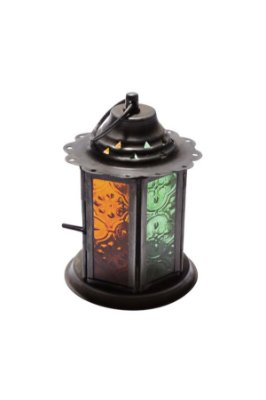 Lanterna Decorativa Verde e Laranja