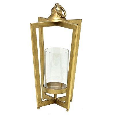 Lanterna Metal Dourada 42cm