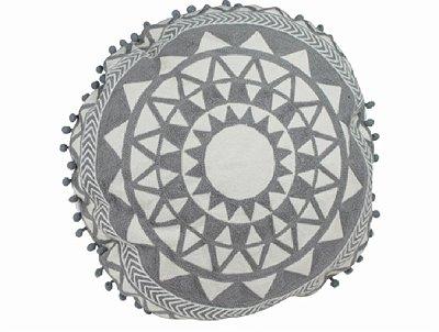 Almofada Maina Branco c/ Cinza