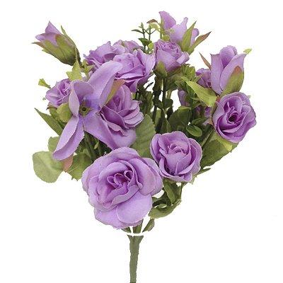 Mini Buquê de Rosas Lilás