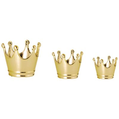 Kit Pote Coroa Dourada - 3 peças