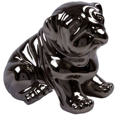 Cachorro em Ceramica Metalica