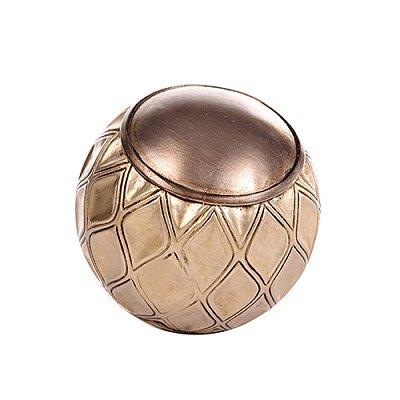Bola Decorativa Dourada Losangos